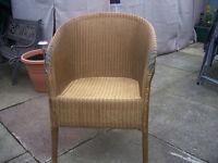 Lloyd Loom Lusty Gold Chair.