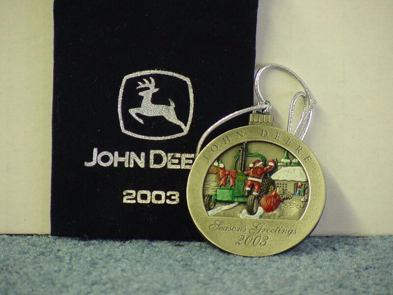 John Deere 2003 Painted Pewter Ornament