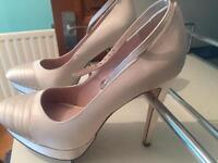Ivory shoes heels size 6 wedding bride bridesmaid