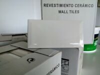 Ivory Metro Tiles in boxes X 4 metres. New. Made in Spain. Plus white grout and Tile Adhesive