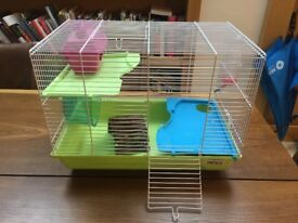 Fully Equipped Syrian Hamster Cage (minus the hamster)