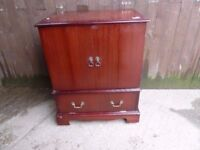 Fold Tv Stand Unit Red Wood By Fold Delivery Available £10