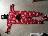 Mini Mouse Onesie and matching slippers brand new, never used.