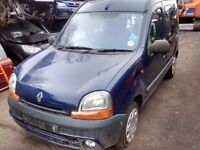 2001 Renault Kangoo mpv 1.4 RN 5dr blue NV432 wheelchair ramp BREAKING FOR SPARES