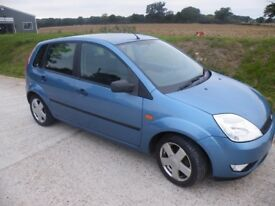 Ford Fiesta 1.4 Zetek, low millage, 5 doors, Service History ,CD Radio with remote and mp3 port.