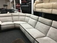 New/Ex Display Group Recliner Sofa (Left or Right Corner)
