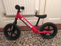 "Kids Strider Balance Bike - 12"" Classic Red"