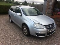 2007 VOLKSWAGEN GOLF 2.0 DIESEL SPORTLINE ESTATE FOR MINOR REPAIR OR SPARES