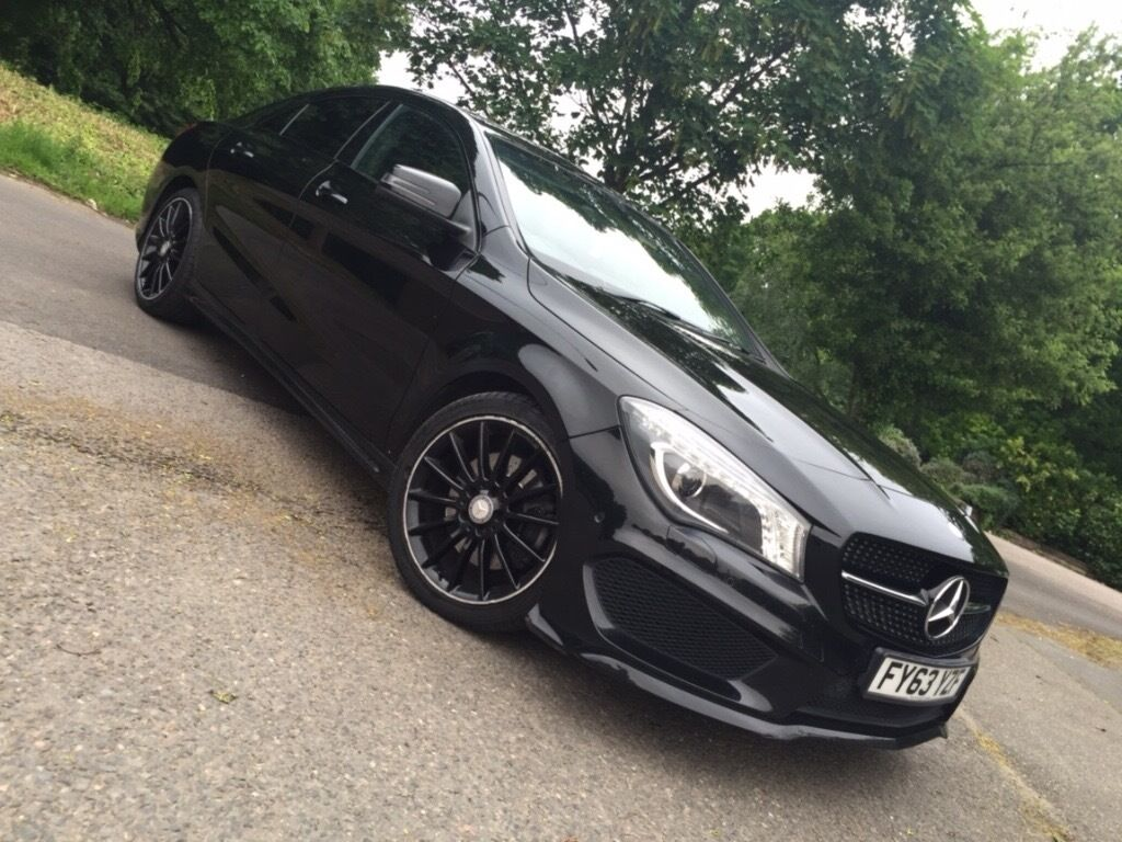 mercedes benz cla 220 amg black sport cdi auto only 55 000. Black Bedroom Furniture Sets. Home Design Ideas