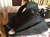 Caden DSLR triangle camera bag (with shoulder strap and waist loop)