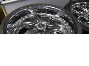 20 INCH NEW CHROME BMW WHEEL & TIRE PACAKGE - SALE -CHEAP