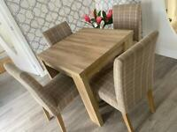 Dinner table and 4 chairs