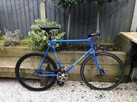 Large Bob Jackson Vigorelli Fixed Gear Single Speed Full Track Bike Build. Thomson Miche FSA