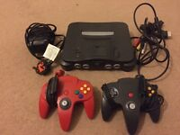 Nintendo 64 (N64) Console & 2 Controllers