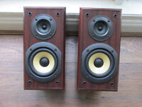 Technics speakers model no.SB-HD350 in fake rose wood sort after rear pair