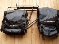 Altura Dry Line Panniers (pair) plus Madison bike rack for a Hybrid or Mountain Bike