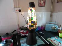 Tall Multi Coloured Glass Table Lamp in Excellent Condition