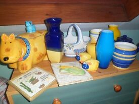 Bric a brac items due to house refurb 3 boxes full of various items,vases,dishes,coffe machine etc