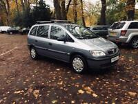 ZAFIRA 2005/1.6 EXCELLENT RUNNER/7 SEATER LOW MILEAGES/LOW INSURANCE/FULL SERVICE START RUNS PEREFCT