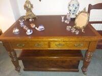 Selbat Edwardian solid oak table - Reduced!