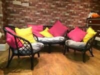 LOVELY 3 PIECE WICKER FURNITURE SET CAN DELIVER