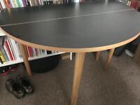 Stylish folding rounded black HABITAT SUKI Dining Table 2-4 Seats - brand new