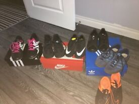 Kids trainers and football boots