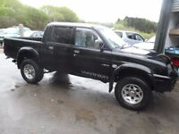 2004 53 MITSUBISHI L200 WARRIOR BLACK , 3 MONTHS WARRANTY , CLEAN ONLY 65K, FREE NATIONWIDE DELIVERY