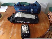 Slazenger Gloves/ pads and Kookaburra bag