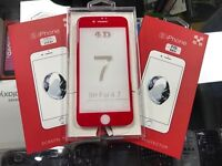 Tempered Glass Screen Protectors in Red