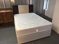 VERY NICE DOUBLE DIVAN BED WITH HEADBOARD