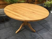 Solid Oak Circular Dining Table, New / Unused 120cm
