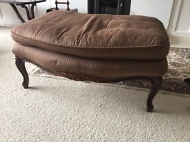 Carved mahogany Foot stool