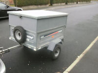 ERDE 122 TRAILER WITH SPARE WHEEL, EXTENSION SIDES AND COVER LOCKABLE LID
