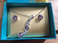 Avon Necklace & Earrings Set - NEW in box