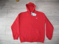 3c8b9225f68c Mens Boys Nike Hoodie Red Zip Up - Size XL - New With Tags -