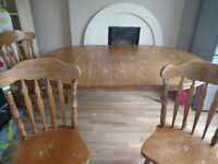 Oval + Circle Dining Room Table