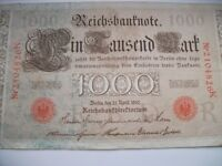 vintage German and dutch banknotes