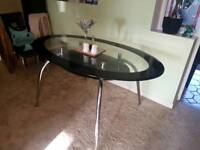 *FREE* Glass dining room table 5ft by 3ft *FREE* Collection Exmouth