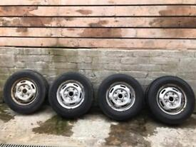 Ford transit steel rims and tyres