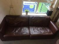 3, 2, 1 leather sofa