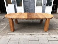 Solid Oak Dining Table with solid oak chunky legs in fantastic condition.
