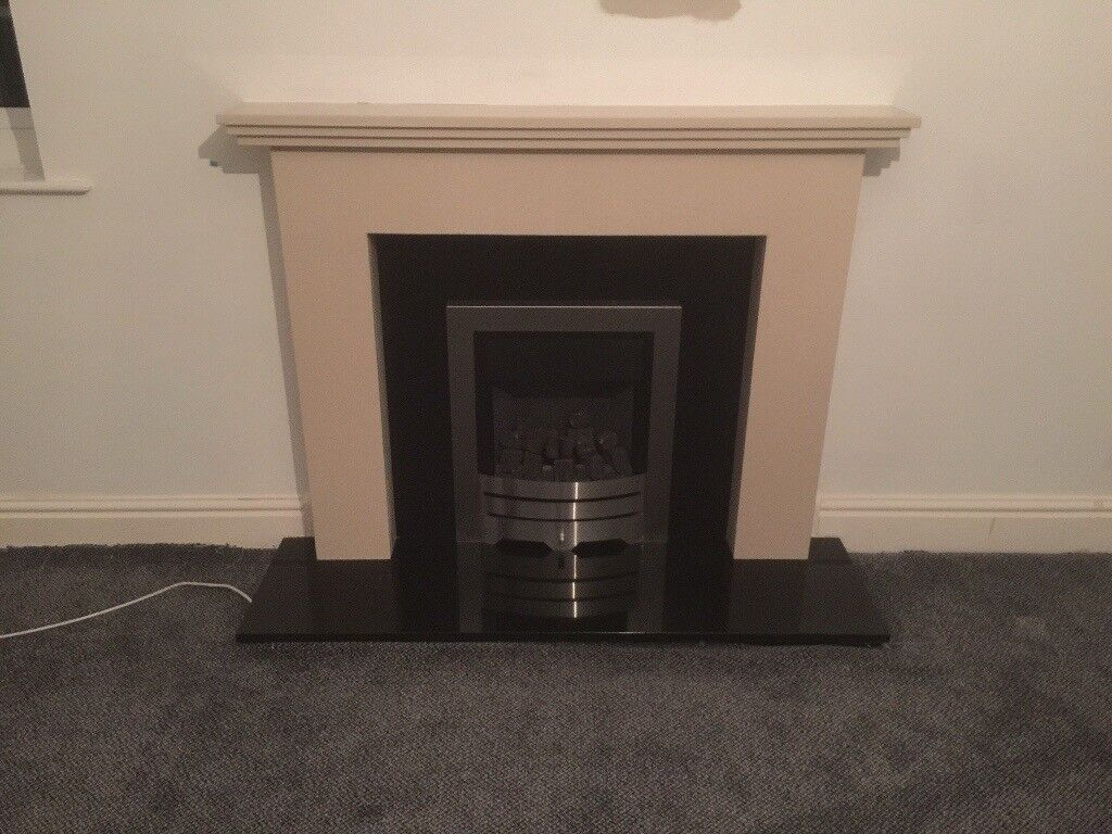 Fire surround, hearth and gas fire