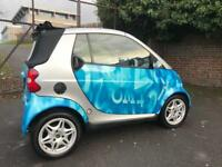 Smart car 2002 semi Auto 600 cc + ADVERTISING + convertible + 12 MONTHS TEST 2019 + AUTOMATIC