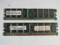 internal memory boards, used in good order 2x 512mb