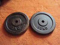 2 x 10kg Cast Iron Weight Plates