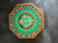 Decorative Morrocan Style Painted Stand/ Mini table