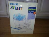 Philips Avent Electric Steriliser & Lindam Baby Door Bouncer & baby gear/clothes