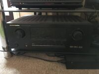 Marantz Surround Sound Reciever Amp with Mordaunt Short 5.1 speakers and active subwoofer
