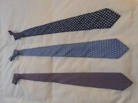 Three ties - Hermes & Salvatore Ferragamo - Amazing colours and styles £150- ono